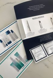 overhead shot of beautycounter products