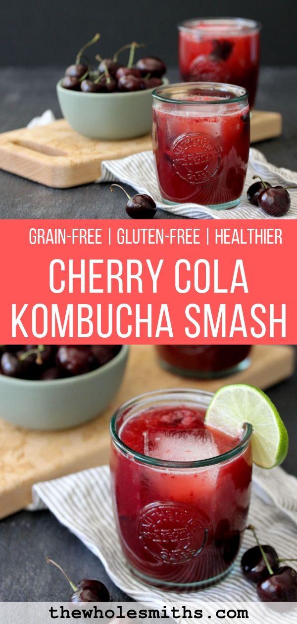 Cherry Cola Kombucha Smash Pin