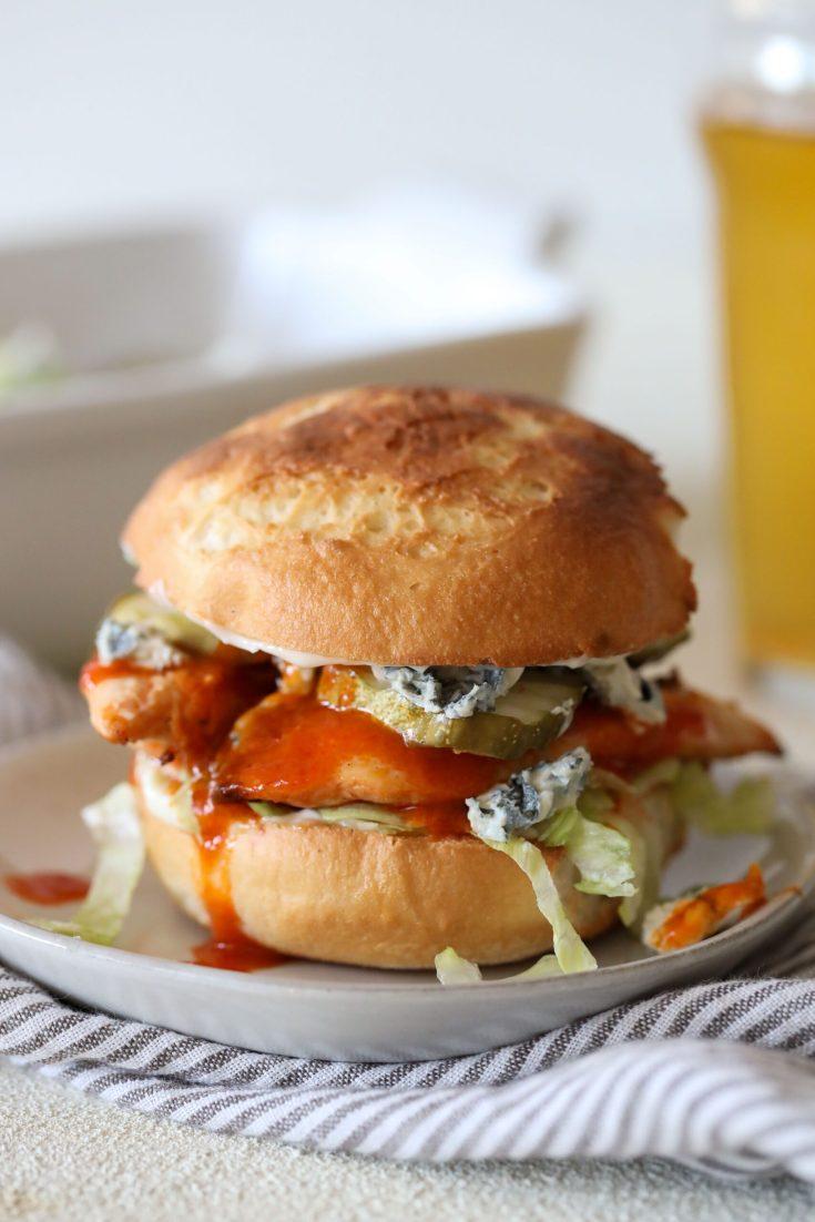 Buffalo Chicken Burgers