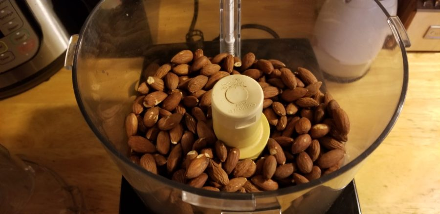 Almonds ready to be processed.