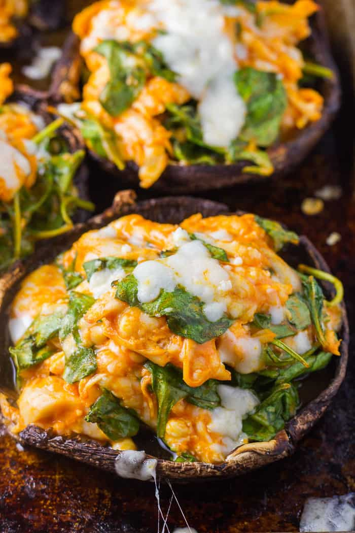 Crab Stuffed Mushrooms Keto Friendly Too The Wicked