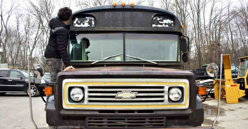 school bus conversion project