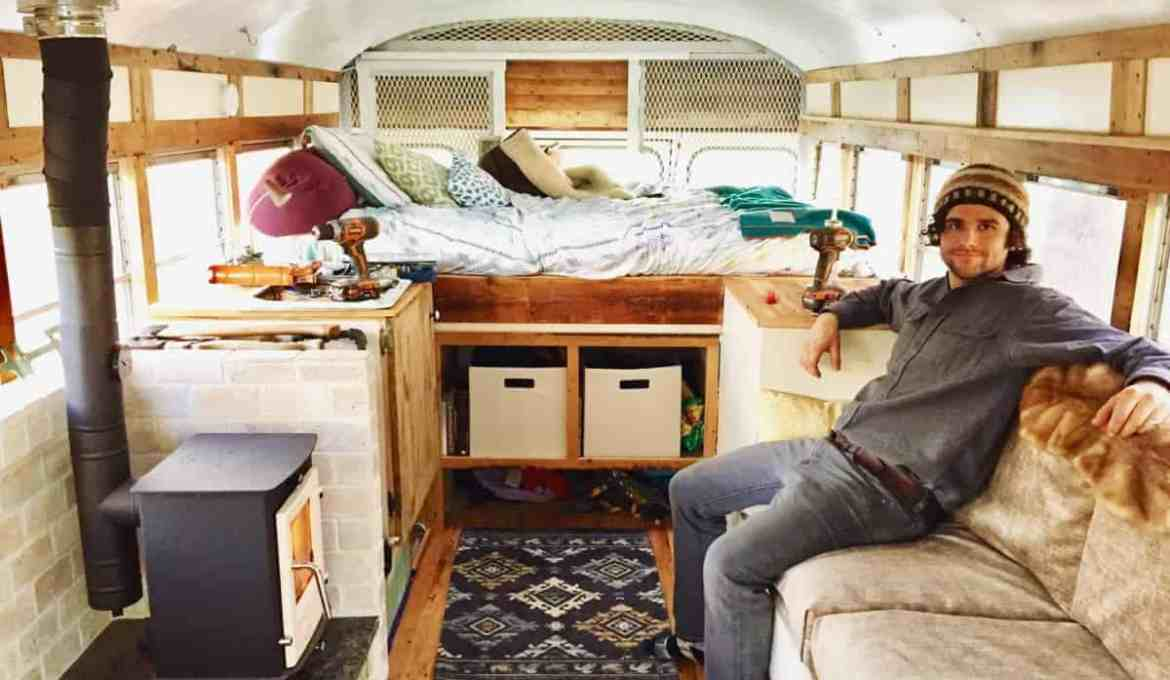 converted bus tiny home