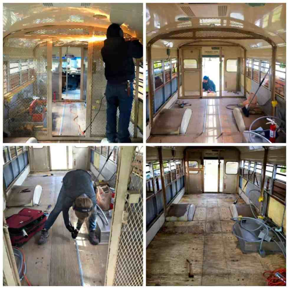 prison bus tiny home conversion project debt free