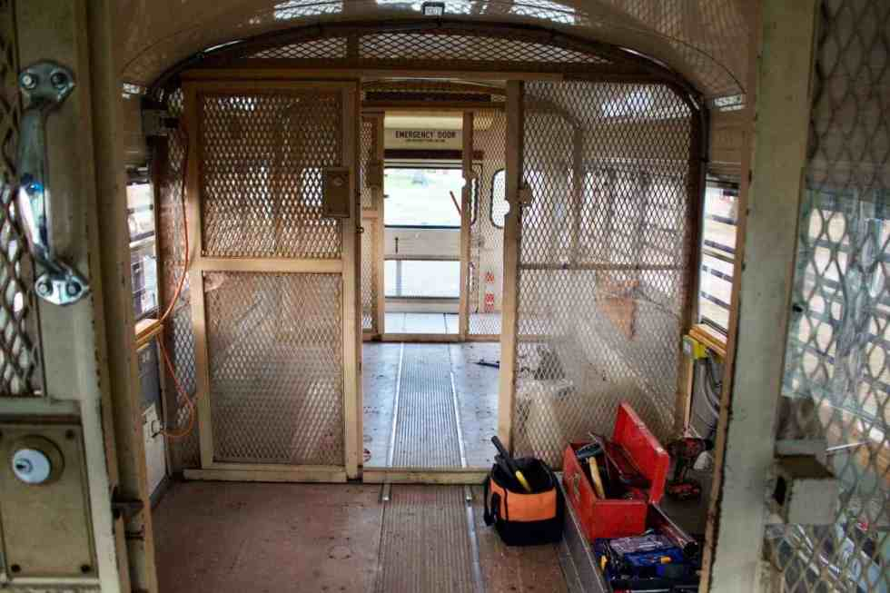 prison bus debt-free tiny living project the wild drive