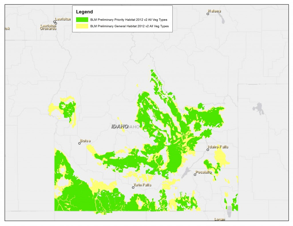 BLM Preliminary Priority and General Habitat Mapping