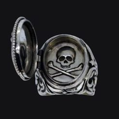 sterling silver poison ring