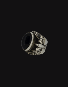 onyx freedom ring sterling silver