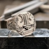 Non Serviam Signet ring