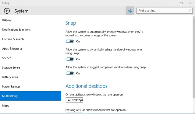 Windows 10 build 10041 pin individual settings to start screen 100418 ccuart Gallery