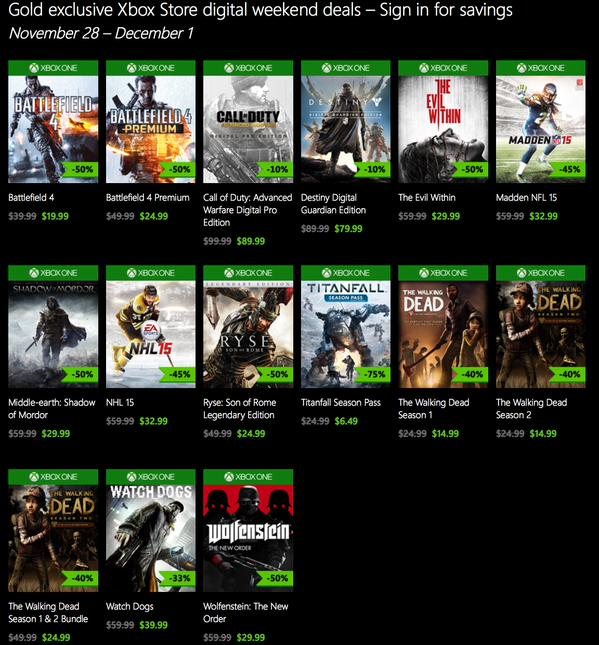 Xbox one games hot deals