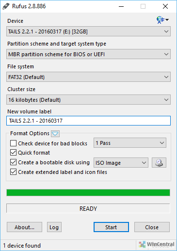 rufus Windows 10 Bootable USB Drive