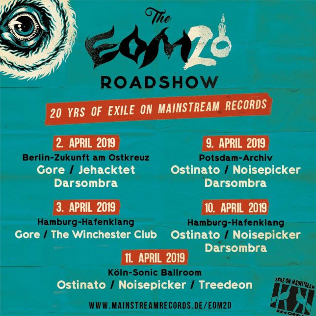 Flyer for The EOM20 Roadshow concerts