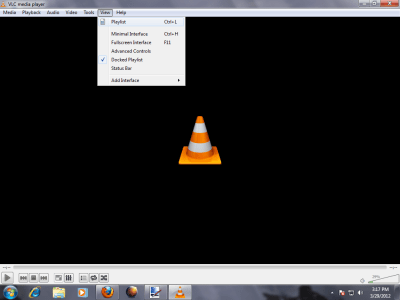 Playlist View 400x300 How to stream videos in LAN with VLC Media Player: Screen shot Tutorial