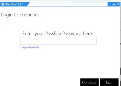 Login 400x284 PassBox : Free Password Manager & Generator for Windows 8 | 7