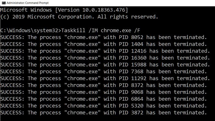 Kill a Process using Command Line