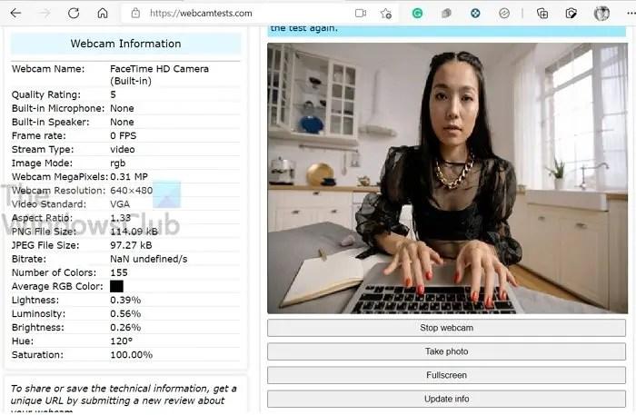 Kiểm tra Công cụ Trực tuyến Webcam