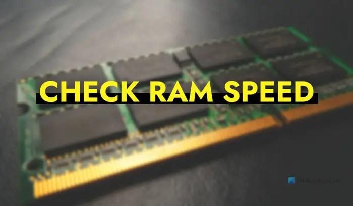 Cách kiểm tra tốc độ RAM trên Windows 11/10