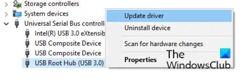 cập nhật Trung tâm gốc USB