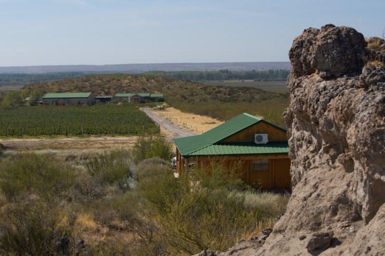 Bodega Noemia vineyard in the the rugged Rio Negro region of Patagonia