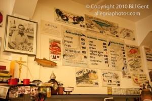 The menu board, Swan Oyster Depot, San Francisco