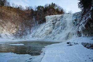 Ithaca Falls in winter, Ithaca, New York