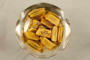 A bowl of Gianduiotti chocolates