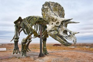 Replica of a dinosaur in the Dino Park, Erlian