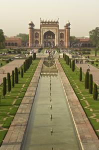 The Darwaza-i-Rausa entrance to the Taj Mahal complex