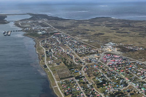 Stanley, Falkland Islands, from the air