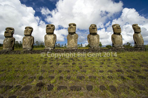 The 7 moai of Ahu Akivi, Rapa Nui