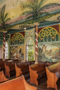 Interior of the Painted Church, Big Island, Hawaii