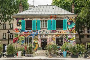 Restaurant along the Canal St. Martin, Paris