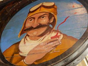 WIne barrel painted with image of Red Baron, Paris