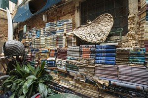 Libreria Acqua Alta wall of books