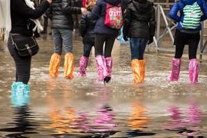 Multi colored flood boots, Venice