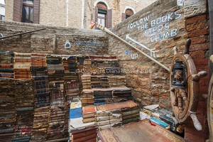 Libreria Acqua Alta's steps made from encyclopedias