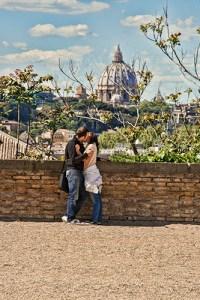 A couple in the Giardino degli Aranci, Aventino