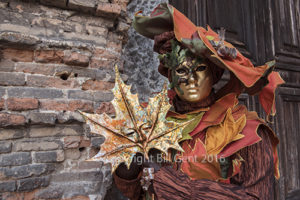 Costumer outside a medieval church, Venice