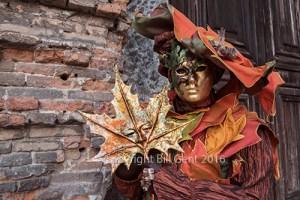 Costumer outside a medieval church, Venice