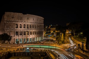 View of the Colosseum from the Hotel Palazzo Manfredi