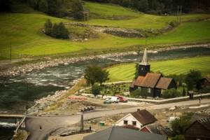 The church in the old village of Flåm