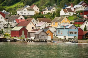 The village of Undredal on the Aurlandsfjord