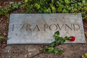 The grave of Ezra Pound, Venice