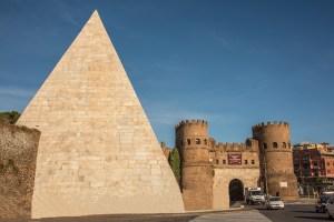 PIramide di Cestio and the Porta San Paolo, Ostiense