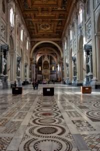 Rome, pavement in San Giovanni in Laterano
