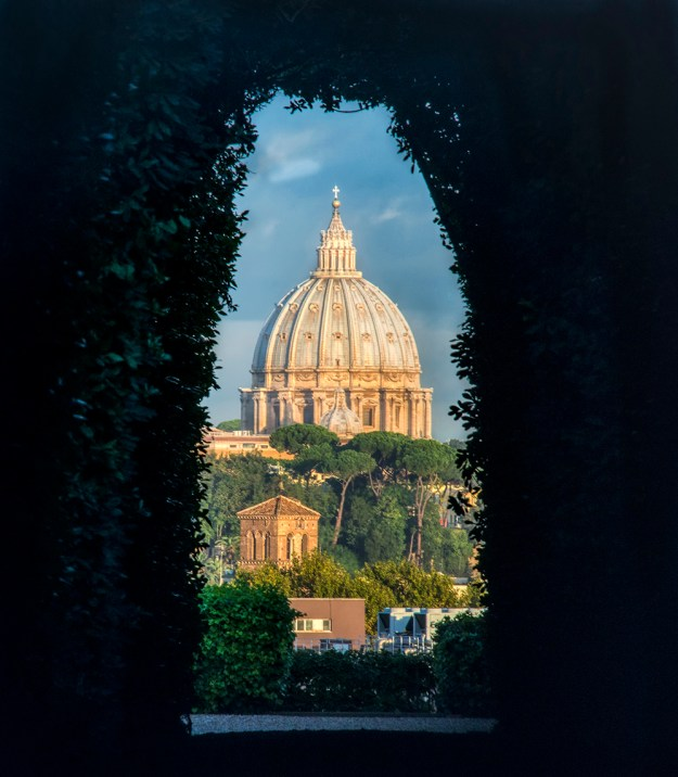 St.Peter's Basilica through Rome's keyhole