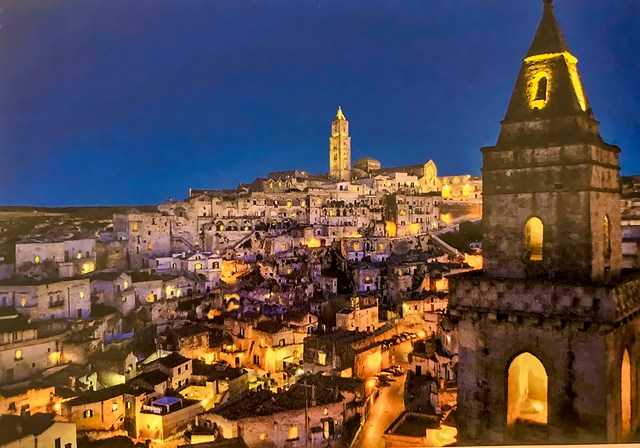 The lights of Matera, Basilicata