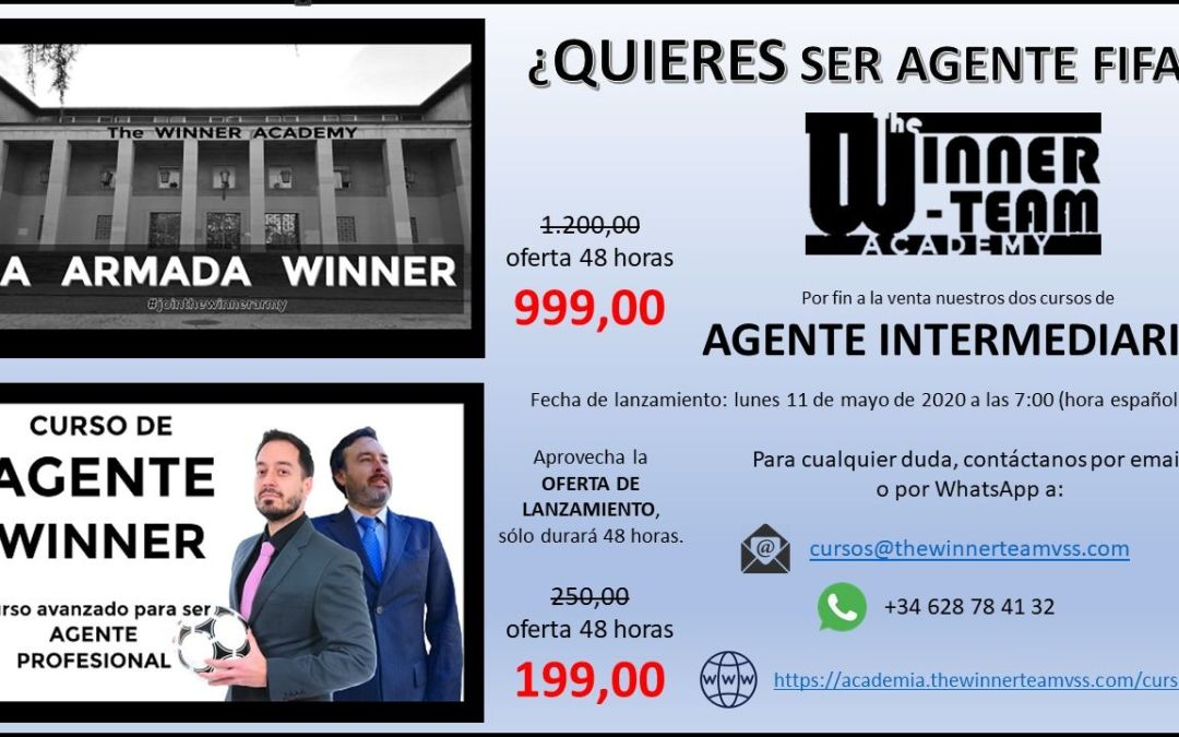 YA ESTA DISPONIBLE EL CURSO DE AGENTE FIFA DE «The WINNER TEAM».