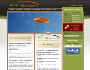 Active Diversions Website 2009